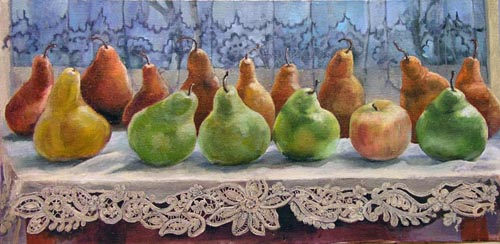 Pears on a Window